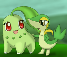 Chikorita and Snivy