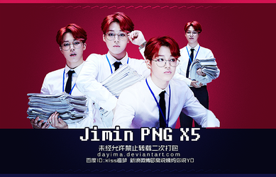 Dope png pack Jimin x5 by DAYIMA