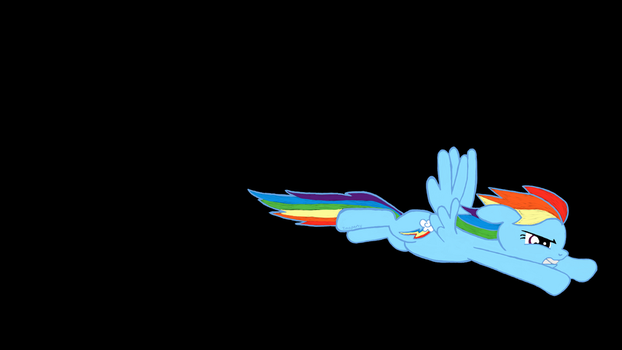 Rainbow Dash Desktop by InoPony