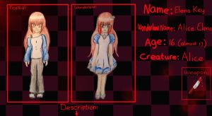 Your-Mad-Wonderland Application form example Elena by RosaPeach