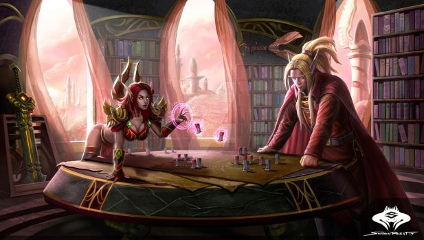 ...Commission: Blood Elf Planning Room... by ShadowPriest