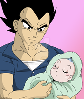 Vegeta and his Princess by Dbzbabe