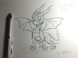Spyro the dragon sketch by Rasmussen891