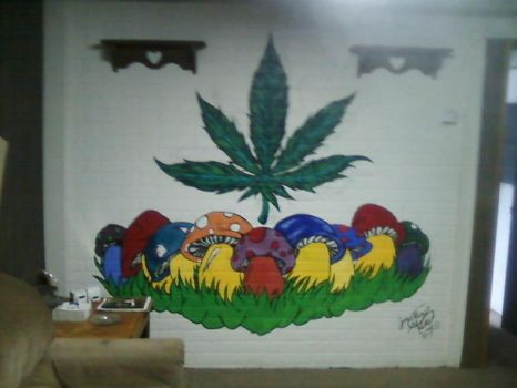 Druggy Mural by zero21990