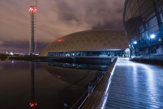 Glasgow Science Museum at Night by BusterBrownBB