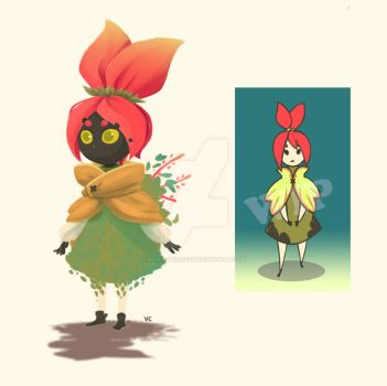 Character Design - Flower Girl by vickie-believe