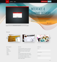 Wave Portfolio Homepage Alt by eXPerienceARTS