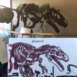 Allosaurus skele-sketch by Michiragi