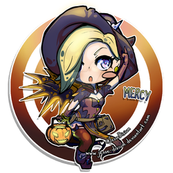 Mercy Halloween [Overwatch Fan-art] by Jesse-Dixium
