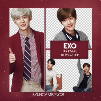 [PNG PACK #77] EXO by fairyixing