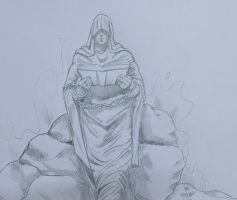 Destiny - drawn as part of daily sketch challenge by mrinal-rai