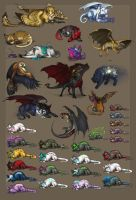 Creatures from Valenth by WhiteRaven90