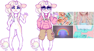 aesthetic adopt reveal: rainbow gamer by flvffy