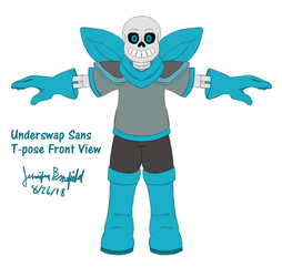 Underswap Sans Model by StoryMasterPurple