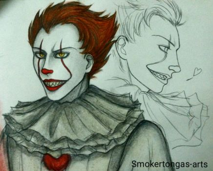 It: Pennywise  by Smokertongas-arts