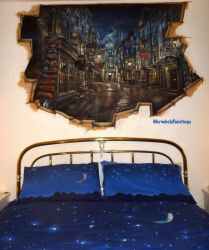 Breach to Diagon Alley :) by WormholePaintings