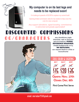 11/27-12/8 Discount Commissions - 10 SLOTS OPEN by mernolan