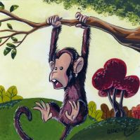 monkey on the branch by marciolcastro