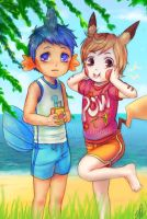Pok'emon: Let's surf by Innocent-raiN