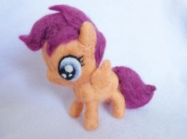 Needle Felted Scootaloo Miniature Plush by StarlitCutesies