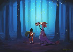 Fireflies(Wander Over Yonder ) by FoxTailPegasus
