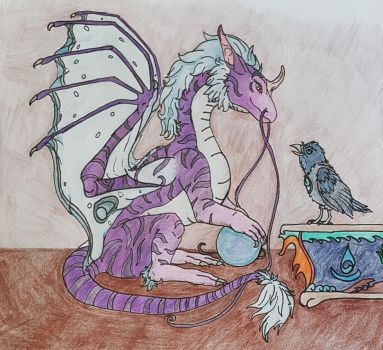Sariyah and her Familiar by Wild-Tracks