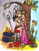 Hades and Persephone by JadeDragonne