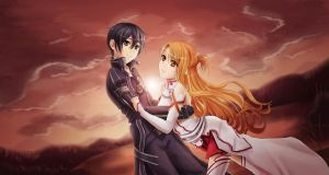 Kirito and Asuna by Tropic02