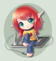 .:On a tablet:. by Aniel-AK