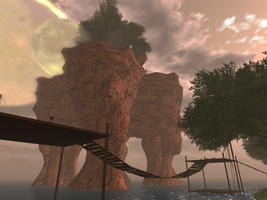 Isla Draconia - The Mountain Grows by ZauberParacelsus