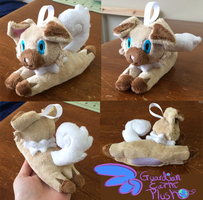 Pokemon Iwanko Rockruff Keychain size! by GuardianEarthPlush