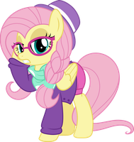 MLP Vector - Fluttershy #8 (Hipstershy) by jhayarr23