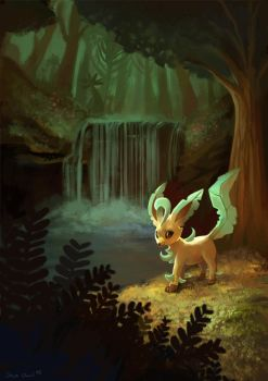 Leafeon's Forest by OrcaOwl