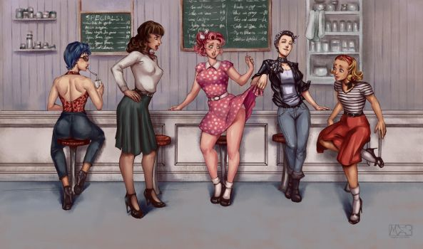 Cafe 50s by Mephmmb