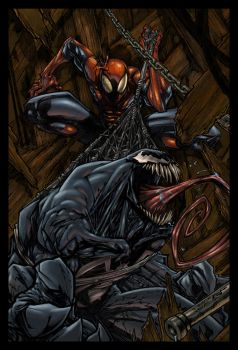 VenomSpidey colored by saberline