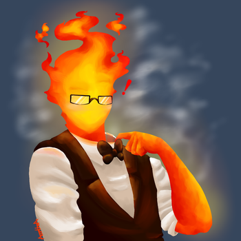 Grillby got the hots for you! by xXAcantheaXx