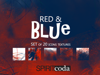 Red and Blue Icon Textures Pack by spiritcoda