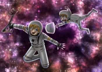 Astronaut Takeru Takaishi and Astronaut Ven/Ventus by smash222