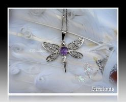 'Fly with me', handmade sterling silver pendant by seralune