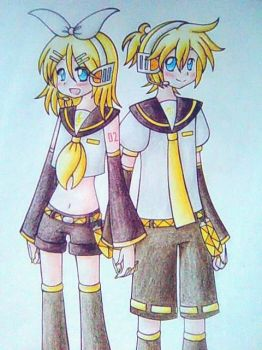 Rin and Len by Matsy23