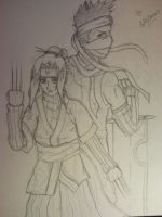 Haku and Zabuza Sketch by l3xxybaby