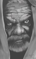 Old man portrait by Weelow