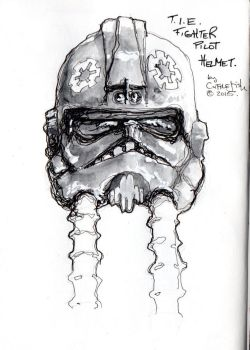 T.I.E. Fighter Helmet Sketch by m99art