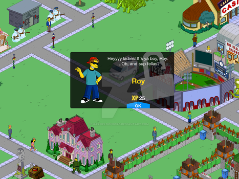 Unlock Screen for Roy in The Simpsons Tapped Out