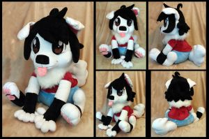 Big Puppy! :Plushie Commission: by AppleDew