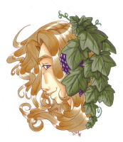 Peaceful Bacchus by KiraSaintclair