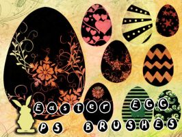 Easter Egg Photoshop Brushes by petermarge