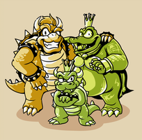 Bowser and K. Rool's Son by rainbert