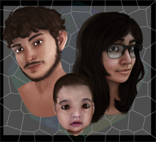 Family Portrait Of Beautiful People by Qu-Ross