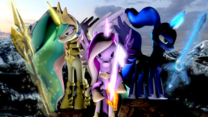 The War for Equestria SFM by TsuriaDragon